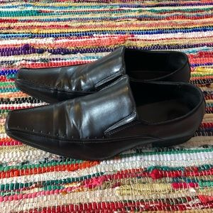 Pointed Toe Dress Shoe Black Men 10.5 Loafer
